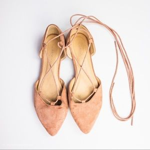 Chinese Laundry Ballerina Lace Up Flats Dusty Pink